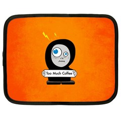 Orange Funny Too Much Coffee Netbook Sleeve (xxl)