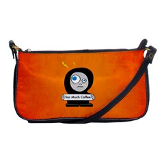 Orange Funny Too Much Coffee Evening Bag