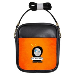 Orange Funny Too Much Coffee Girl s Sling Bag