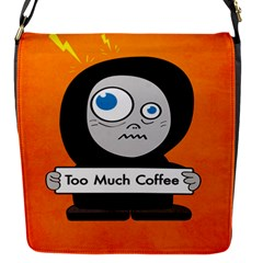 Orange Funny Too Much Coffee Removable Flap Cover (small)