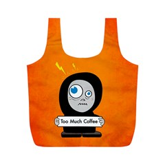 Orange Funny Too Much Coffee Reusable Bag (M)