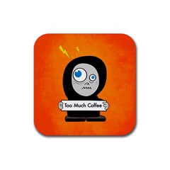 Orange Funny Too Much Coffee Drink Coaster (Square)