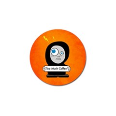 Orange Funny Too Much Coffee Golf Ball Marker 4 Pack