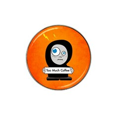 Orange Funny Too Much Coffee Golf Ball Marker 4 Pack (for Hat Clip)