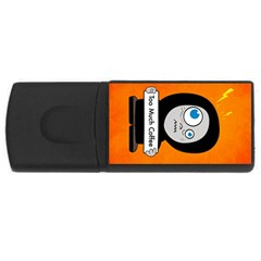 Orange Funny Too Much Coffee 4GB USB Flash Drive (Rectangle)