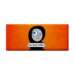 Orange Funny Too Much Coffee Hand Towel