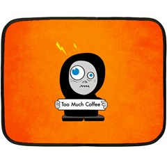 Orange Funny Too Much Coffee Mini Fleece Blanket (Two Sided)