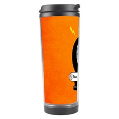 Orange Funny Too Much Coffee Travel Tumbler