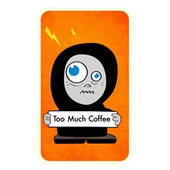 Orange Funny Too Much Coffee Memory Card Reader (Rectangular)