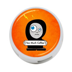 Orange Funny Too Much Coffee 4-Port USB Hub (One Side)
