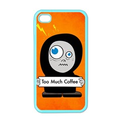 Orange Funny Too Much Coffee Apple iPhone 4 Case (Color)