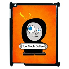 Orange Funny Too Much Coffee Apple iPad 2 Case (Black)