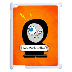 Orange Funny Too Much Coffee Apple iPad 2 Case (White)