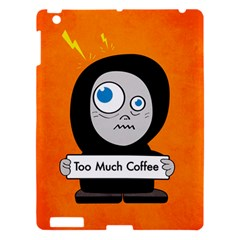 Orange Funny Too Much Coffee Apple iPad 3/4 Hardshell Case