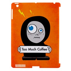 Orange Funny Too Much Coffee Apple Ipad 3/4 Hardshell Case (compatible With Smart Cover)