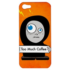 Orange Funny Too Much Coffee Apple Iphone 5 Hardshell Case
