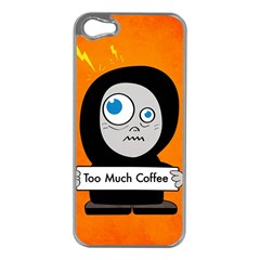 Orange Funny Too Much Coffee Apple Iphone 5 Case (silver)