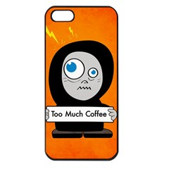 Orange Funny Too Much Coffee Apple iPhone 5 Seamless Case (Black)