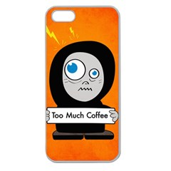 Orange Funny Too Much Coffee Apple Seamless Iphone 5 Case (clear)