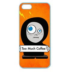 Orange Funny Too Much Coffee Apple Seamless iPhone 5 Case (Color)