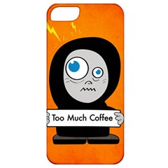 Orange Funny Too Much Coffee Apple iPhone 5 Classic Hardshell Case