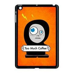 Orange Funny Too Much Coffee Apple iPad Mini Case (Black)