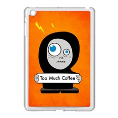 Orange Funny Too Much Coffee Apple iPad Mini Case (White)