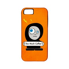 Orange Funny Too Much Coffee Apple iPhone 5 Classic Hardshell Case (PC+Silicone)