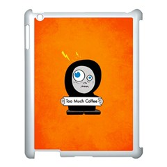 Orange Funny Too Much Coffee Apple iPad 3/4 Case (White)