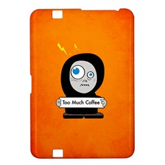 Orange Funny Too Much Coffee Kindle Fire Hd 8 9  Hardshell Case