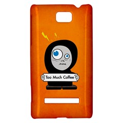 Orange Funny Too Much Coffee HTC 8S Hardshell Case