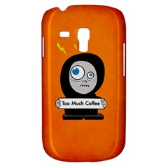 Orange Funny Too Much Coffee Samsung Galaxy S3 Mini I8190 Hardshell Case