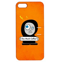 Orange Funny Too Much Coffee Apple iPhone 5 Hardshell Case with Stand