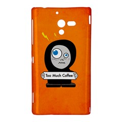 Orange Funny Too Much Coffee Sony Xperia ZL (L35H) Hardshell Case