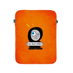 Orange Funny Too Much Coffee Apple iPad Protective Sleeve