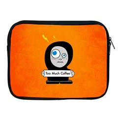 Orange Funny Too Much Coffee Apple Ipad Zippered Sleeve