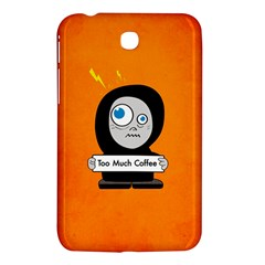 Orange Funny Too Much Coffee Samsung Galaxy Tab 3 (7 ) P3200 Hardshell Case