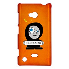Orange Funny Too Much Coffee Nokia Lumia 720 Hardshell Case