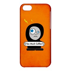 Orange Funny Too Much Coffee Apple Iphone 5c Hardshell Case