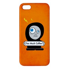 Orange Funny Too Much Coffee iPhone 5S Premium Hardshell Case