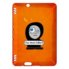 Orange Funny Too Much Coffee Kindle Fire HDX 7  Hardshell Case