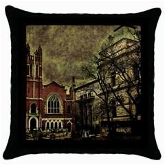Dark Citiy Black Throw Pillow Case
