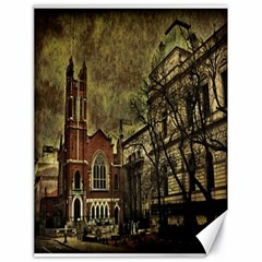Dark Citiy Canvas 18  X 24  (unframed)