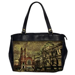 Dark Citiy Oversize Office Handbag (Two Sides)