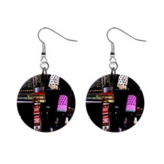 New York City at Night Mini Button Earrings