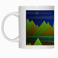 Landscape  Illustration White Coffee Mug