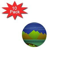 Landscape  Illustration 1  Mini Button (10 pack)