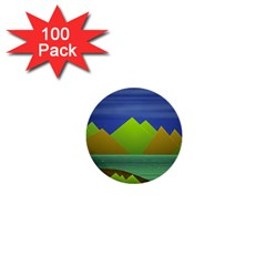 Landscape  Illustration 1  Mini Button (100 pack)