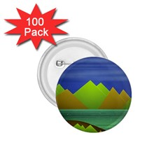 Landscape  Illustration 1.75  Button (100 pack)