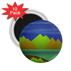 Landscape  Illustration 2.25  Button Magnet (10 pack)